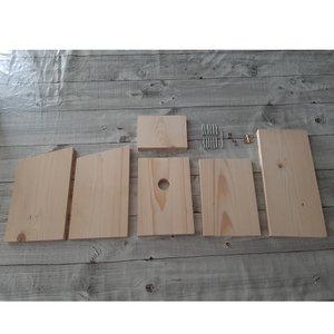 Vogelhuisje koolmees bouwpakket Idecohout
